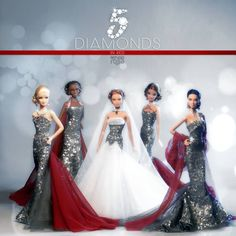 5 Diamonds In Red Collection Barbie Dolls By Refugio Rosa 2014