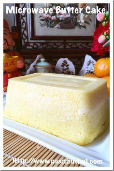 Chinese Sponge Cake Recipe, Sponge Cake Recipes, Microwave Recipes, Baking Recipes, Dessert Recipes, Desserts, Microwave Sponge Cake, Steamed Cake, Rum Cake