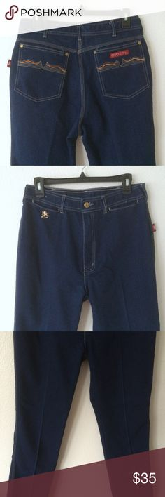"""Vintage Dark Wash Braxton High Waisted Mom Jeans Brand: Braxton  Style/Color: Stretch Dark Blue  Size: 18   Material  - 43% Cotton  - 29% Rayon  - 28% Polyester  Excellent Used Condition  Waist - 15"""" flat or 30"""""""" circumference   Inseam - 30""""  Hip - 18"""" flat or 36"""" circumference  Front Rise - 12""""  Thigh: 9"""" flat or 18"""" circumference  Leg Opening - 8"""" flat or 16"""" Circumference   No stains, fraying, or holes Braxton Jeans Straight Leg"""