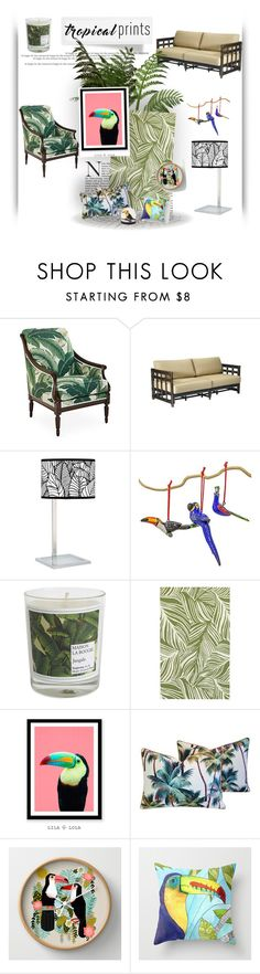 """Tropical Home"" by pink-roosje ❤ liked on Polyvore featuring interior, interiors, interior design, home, home decor, interior decorating, Michael Thomas Collection, Giclee Gallery, NOVICA and Maison La Bougie"