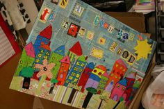 it's an HSES Arty Party!: Auction sneak peak! This city collage was a group project.