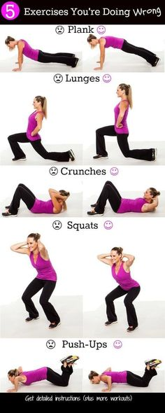 Exercises you are doing wrong