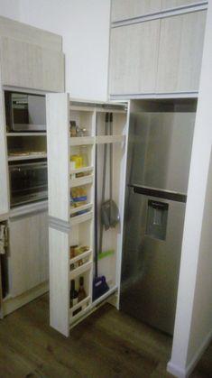 Kitchen Room Design, Laundry Room Design, Kitchen Cabinet Design, Home Decor Kitchen, Interior Design Kitchen, Home Kitchens, Diy Kitchen Storage, Laundry Room Storage, Kitchen Drawers