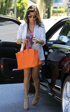 Kourtney Kardashian white blazer with dress