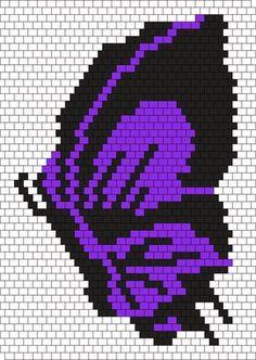 Purple Butterfly Bead Pattern