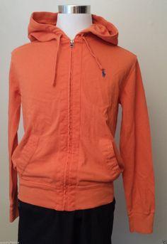 #POLO Ralph Lauren men size M hoodie orange color full zip NWT RalphLauren visit our ebay store at  http://stores.ebay.com/esquirestore