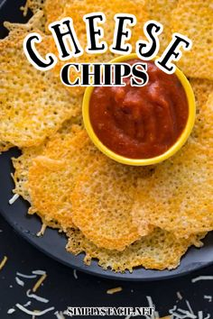 Cheese Chips - The best keto snack! Ditch the potatoes and dunk these crunchy low carb alternatives in all your favorite dips or enjoy them plain.