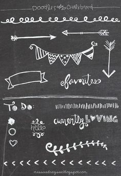 FREEBIE: doodles for a chalkboard
