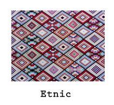 loneta de algodón estampado Etnic. #estampado #fabric #cotton #ethnic #etnic #geometrico