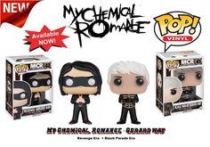 Set of 2 Gerard Way My Chemical Romance Funko Toys Pop Rocks Vinyl Figure