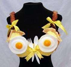 """Sunnyside up!"" The bra is part of ""Bra-ha-ha,"" a fundraiser for the Breast Center"