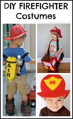 DIY Firefighter Costumes for Kids from Twodaloo