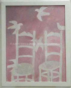 Vladimír Komárek - Židle a ptác   98 000 Kč Temporary Storage, New Pins, New Art, Artist, Artwork, Painting, Work Of Art, Auguste Rodin Artwork, Artists