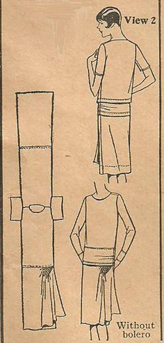 Vintage 1920s Sewing Pattern Pictorial Review