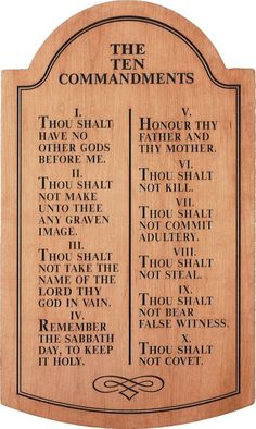 The Ten Commandments Carved Tablet