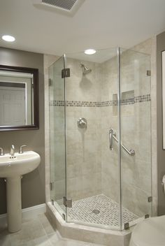 corner shower bathroom