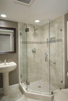 Beautifully remodeled bathroom in Reston, VA. #bathroom #shower