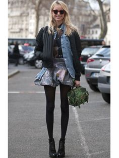cute outfit!   Paris Fashion Week Street Style F/W 2012