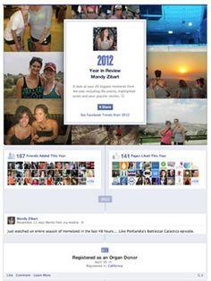 Facebook cria retrospectiva 2012 exclusiva para cada usuário. Veja a sua!