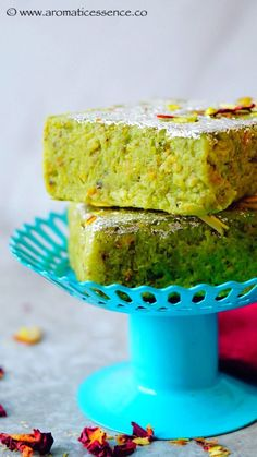 Sharing with you guys a super simple dessert recipe- Badam pista burfi! Traditionally most Indian sweets use mawa / khoya be it in burfi's , peda's etc. Mawa is nothing but evaporated milk solids. It is easily available Indian Desserts, Indian Sweets, Just Desserts, Indian Food Recipes, Sweet Recipes, Snack Recipes, Dessert Recipes, Snacks, Cooking Curry