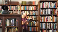 White Square Books, Easthampton | Photo by Lynne Graves - the Northampton area has plenty of book store options for book lovers!