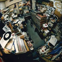 lost in a record collection. #djculture #records #vinyl http://www.pinterest.com/TheHitman14/dj-culture-vinyl-fantasy/