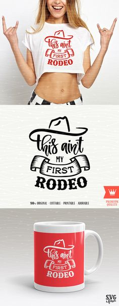 Rodeo SVG Cowboy Cutting File This Ain't My First Rodeo Love Farm West Sweet Southern Sassy Cut File for Cricut Explore, Silhouette Cameo by SVGfarm on Etsy https://www.etsy.com/listing/540380635/rodeo-svg-cowboy-cutting-file-this-aint
