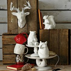 ceramic animal speakers, West Elm