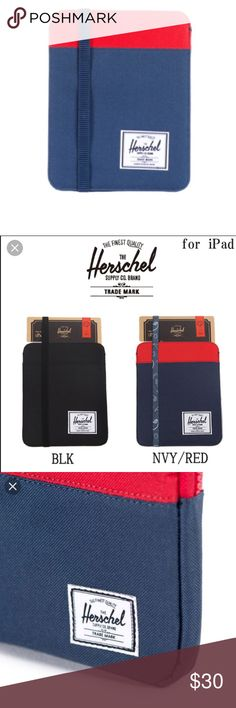 Herschel Case for IPad Mini Awesome navy and red Herschel iPad mini case in good used condition! Minor scuffs, will post photos of actual item soon Tags: Apple, Herschel for iPad Herschel Supply Company Accessories Tablet Cases
