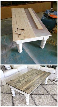 Coffee Table Makeover, Diy Coffee Table, Kitchen Table Makeover, Painted Coffee Tables, Refurbished Coffee Tables, Diy Table Top, Coffee Table Upcycle Ideas, Coffee Table Refinish, Ideas For Coffee Tables