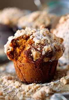 Coffee Cake Gingerbread Muffins