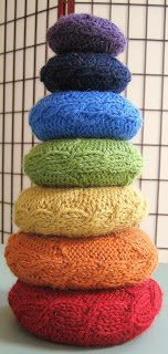 Traveling With The Knitting Yogi: Chakra Can! A Free Pattern for a Lovely Pillow Set