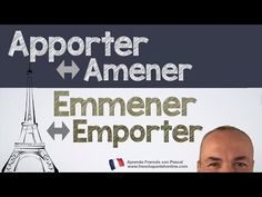 (2053) apporter amener emporter emmener en francés con Pascal - YouTube Learn French Free, French Lessons, French Language, Culture, Youtube, Learning French, Coin, English, Teaching French