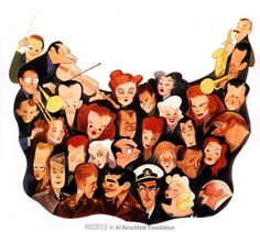 "Early in his career, Al Hirschfeld did promotional art work for MGM posters. This is called ""MGM Map"""