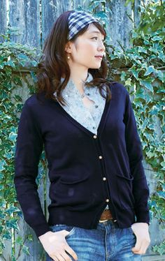 Navy and cardigans!