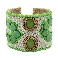 Hand-Crafted Devi Cuffs by Sam Dupont. Atlanta jewelry designer Samantha duPont honed her craft with stints at Versace, Donna Karan, and Marc Jacobs. A fun alternative to traditional bangles and bracelets, her hand-sewn beaded Devi cuffs come in nearly forty bold designs. They're lined in natural linen for style and comfort, and adjustable so you don't have to worry about sizing.
