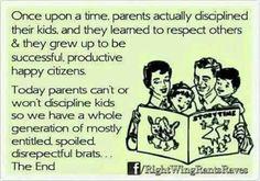 I will always discipline my children...