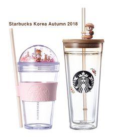 mug cup Starbucks KOREA 2018 Autumn bearista figure coldcup + glass cold cup Starbucks Cup, Starbucks Tumbler, Starbucks Tassen, Copo Starbucks, Starbucks Bottles, Starbucks Water Bottle, Cute Water Bottles, Best Water Bottle, Drink Bottles