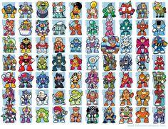 Mega Man Bosses [1-8] (by jjmccullough)