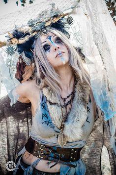 Shadow Self Photography: RuDini Mariusz Tribal Warrior, Viking Warrior, Viking Woman, Costume Viking, Viking Cosplay, Self Photography, Fantasy Photography, Halloween Photography, Cosplay Make-up