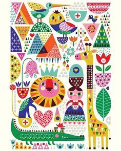 #New #Zoo #poster 50x70 from @kidsdinge #linkinprofile ☝️#helendardik #illustration #kidsroom #nursery #babyroom #kinderkamer #kinderkamerstyling #kinderkameraccessoires #babykamer #instakids #kids #illustratie #kidsdecor #decor #kidsinterior #interior #paperlove #giraffe #crocodile #lion #dardik #illustrator #animals #kidsdinge #welovekidsdinge
