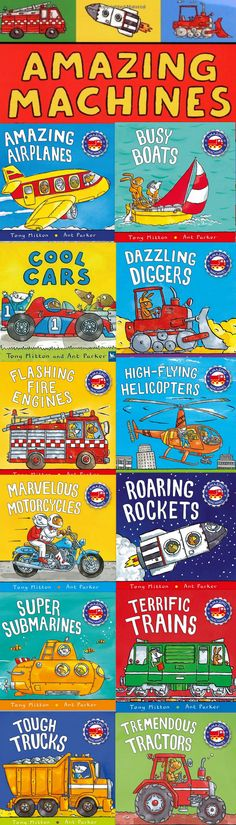 Amazing Machines Collection: 12+1 books by Tony Mitton  (Author), Ant Parker (Illustrator)