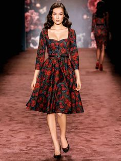 Lena Hoschek sewing pattern, on German burda website. So amazing. 144-112016-B