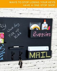 15x25 vertical mail organizers with 6x9 picturechalkboard opening chalkboard mail organizer paired with a key holder acts as a one stop shop to remind you of important tasks before you leave solutioingenieria Choice Image