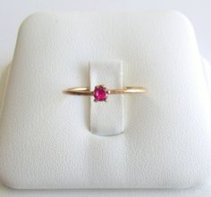 Ruby 14K Gold Filled Stacking Ring July by KatDesignsNYC on Etsy
