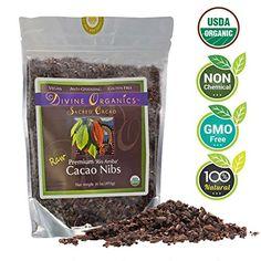 Divine Organics 1Lb / 16Oz Raw Cacao / Cocoa Nibs - Certified Organic - Premium Rio Arriba - Smoothies, Baking, Snacks, Salads, Trail Mixes - Chocolate Chips Substitute - Rich in Magnesium ** Unbelievable offers are coming!