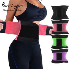 88d384288b Burvogue Hot Shapers Women Body Shaper Slimming Shaper Belt Girdles Firm Control  Waist Trainer Cincher Plus size Shapewear