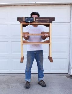 Woodworking Bench Full Function Portable Workbench W/Plans - Hey Guys, these are the plans to my portable woodworking workbench that fits on a Ridgid wheeled toolbox. Checkout the videos to see how I built my mobile workben. Small Workbench, Portable Workbench, Mobile Workbench, Workbench Plans, Garage Workbench, Industrial Workbench, Workbench Designs, Folding Workbench, Workbench Height