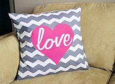 Cute chevron love pillow