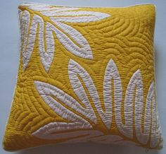"""2 Hawaiian Quilt Pillow Covers, Cushions, 100% Hand Quilted/hand Appliqued 18"""" Hawaiian Quilt Wholesale"""